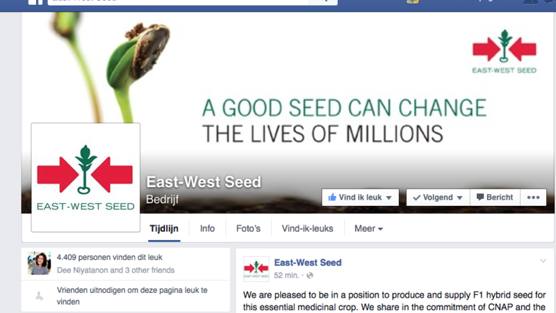 Dreamjob: East-West Seed zoekt Social Media Stagiair voor stage in Bangkok [Engelstalig]